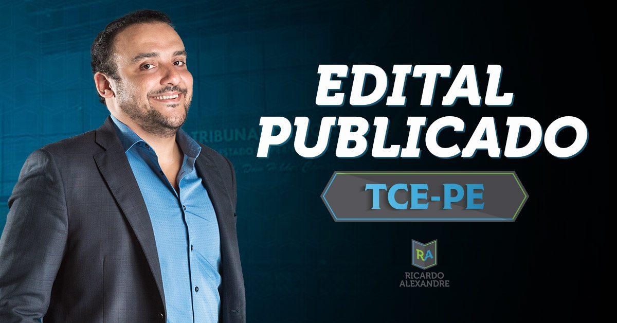 Edital do concurso do TCE-PE publicado!